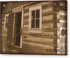 Schoolhouse Acrylic Print by Terri K Designs