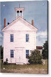 Schoolhouse Acrylic Print by Tom Wooldridge