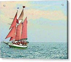 Schooner Jolly Rover Key West Acrylic Print by Joan  Minchak
