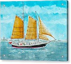 Schooner Spirit Of Independence Acrylic Print
