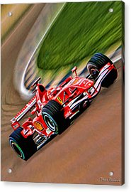 Schumacher Bend Acrylic Print by Blake Richards