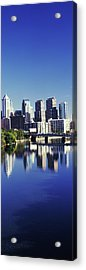Schuylkill River With Skyscrapers Acrylic Print