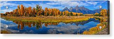 Schwabacher Autumn Reflections Panorama Acrylic Print