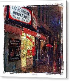 Schwartz's Hebrew Delicatessen Acrylic Print by Roger Winkler