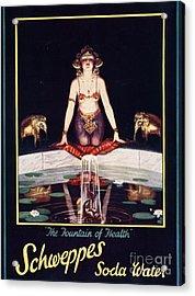 Schweppes 1920s Uk Soda Water Acrylic Print