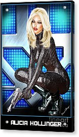 Sci-fi Blonde With A Gun Acrylic Print