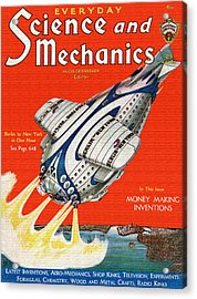 Science And Mechanics Magazine Cover 1931 Acrylic Print by Mountain Dreams