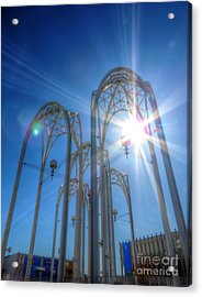 Science Center Sun Flare Acrylic Print by Chris Anderson