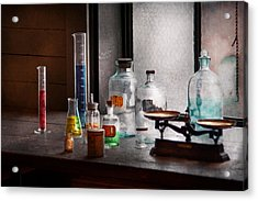 Science - Chemist - Chemistry Equipment  Acrylic Print by Mike Savad