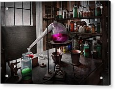 Science - Chemist - Chemistry For Medicine  Acrylic Print by Mike Savad