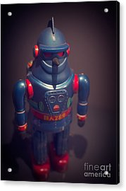 Science Fiction Vintage Robot Toy Acrylic Print by Edward Fielding