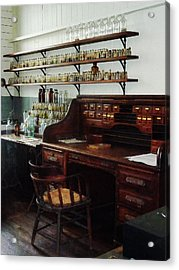 Scientist - Office In Chemistry Lab Acrylic Print