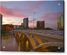 Acrylic Print featuring the photograph Scioto Morning 50526 by Brian Gryphon