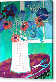 Scissors Acrylic Print by Diane Fine
