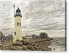 Acrylic Print featuring the photograph Scituate Lighthouse by Constantine Gregory