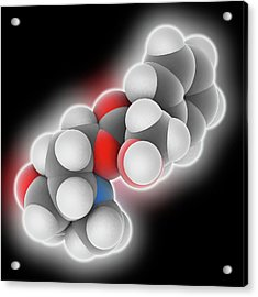 Scopolamine Drug Molecule Acrylic Print by Laguna Design