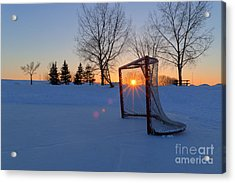 Scoring The Sunset Acrylic Print