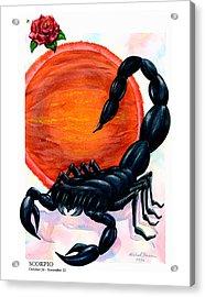 Scorpio Acrylic Print by Michael Baum