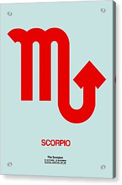 Scorpio Zodiac Sign Red Acrylic Print