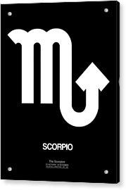 Scorpio Zodiac Sign White Acrylic Print by Naxart Studio