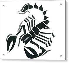 Scorpion Acrylic Print by Earl ContehMorgan
