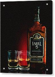 Scotch For Two Acrylic Print by Daniel Hagerman