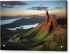Scotland - Old Man Of Storr Acrylic Print by Jean Claude Castor