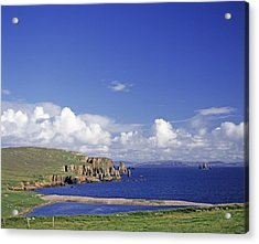 Scotland Shetland Islands Eshaness Cliffs Acrylic Print by Anonymous