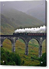 Scotland Steam Train And Bridge Acrylic Print