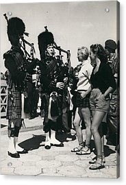 Scots Guards Entertained In Le Tourquet - And Do A Bit Of Acrylic Print by Retro Images Archive