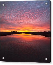 Scott Creek Sunset Panorama 03 Acrylic Print