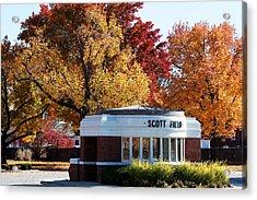 Scott Field  Old Main Gate  Acrylic Print by John Freidenberg