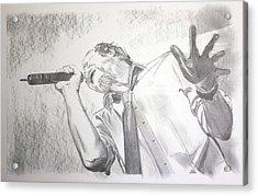 Scott Weiland Acrylic Print by Charlotte NC Artist Phil Robinson