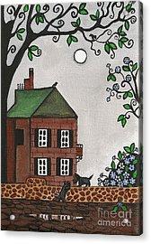 Scotties On An Overcast Day Acrylic Print by Margaryta Yermolayeva