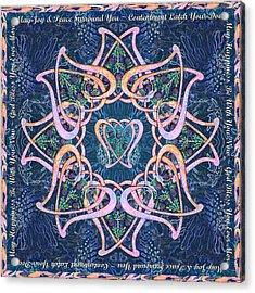 Scottish Blessing Celtic Hearts Duvet Acrylic Print by Michele Avanti