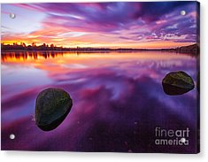 Scottish Loch At Sunset Acrylic Print