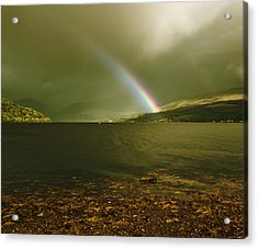 Scottish Rainbow On Loch Fyne Acrylic Print by Jane McIlroy