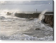 Scottish Sea Storm Acrylic Print by Jeremy Voisey
