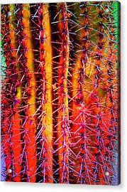 Acrylic Print featuring the mixed media Scottsdale Saguaro by Michelle Dallocchio