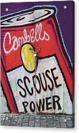 Scouse Power Acrylic Print by David Resnikoff