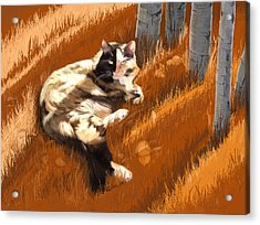 Scout In Autumn Acrylic Print