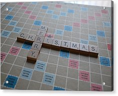 Scrabble Merry Christmas Acrylic Print