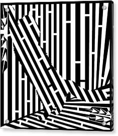 Scratching Cat Maze Acrylic Print by Yonatan Frimer Maze Artist