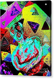 Scream Abstract Art Acrylic Print by Annie Zeno