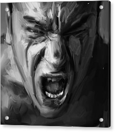 Scream Acrylic Print by H James Hoff