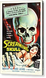Screaming Skull Movie Poster 1958 Acrylic Print by Mountain Dreams