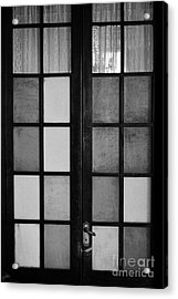 screen door in traditional old house in the barrio paris londres Santiago Chile Acrylic Print