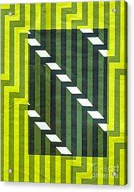 Screen Print Acrylic Print by Dave Atkins