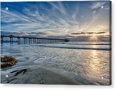 Scripps Pier Sky And Motion Acrylic Print