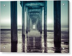Scripps Pier Acrylic Print by Sonny Marcyan